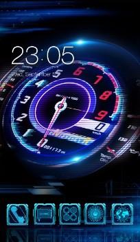 Neon racing car