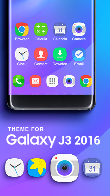 Theme for Galaxy J3 (2016) HD