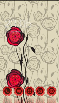 Romantic Hand draw Red Rose