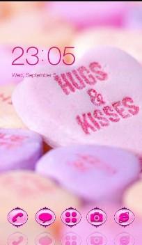 Hug  kiss love candy
