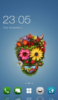 Sugar Skull Theme for Nokia X+