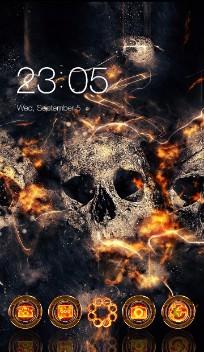 Fire Skulls