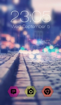 Neon Street Night