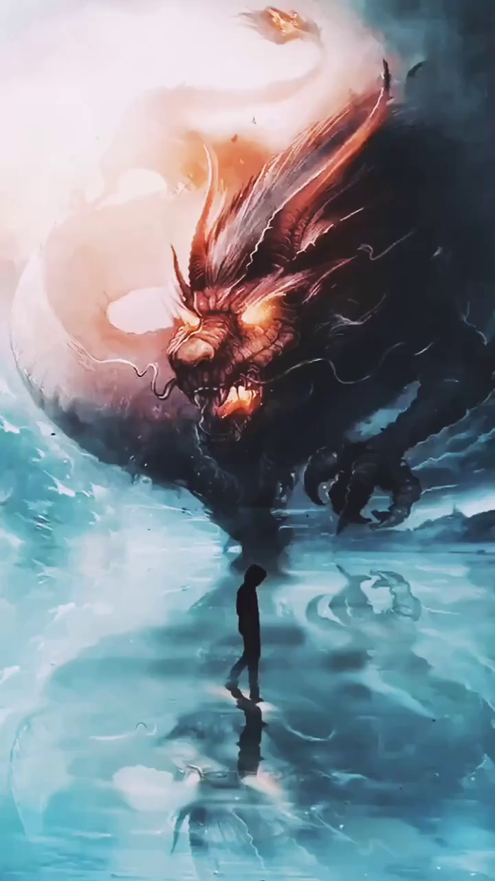 dragon in the fog