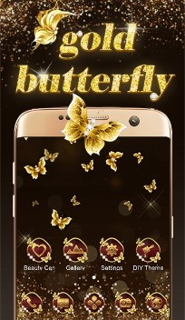 Gold shining butterfly