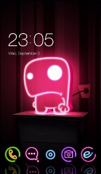 Neon Lights Cute Monster