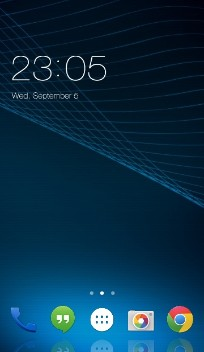 Android L blue