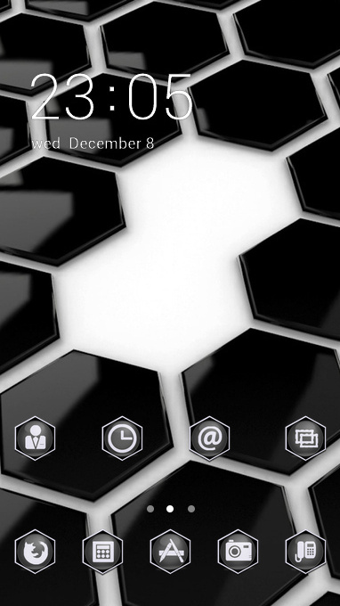 Abstract theme black point white shape wallpaper