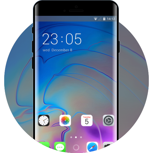 Phone XS IOS12 free android theme – U launcher 3D