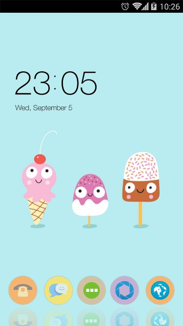 Cute Cartoon Ice Cream