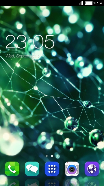 Water droplets Theme for Samsung Galaxy Y CDMA