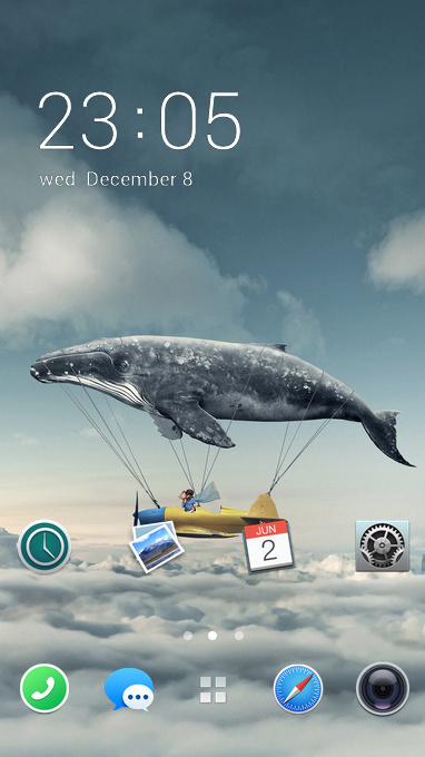 fantasy whale flying