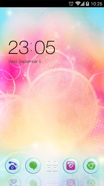 Abstract Theme Pink circle Wallpaper