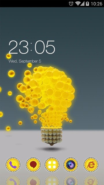 Abstract Theme Yellow Light Bulb Wallpaper