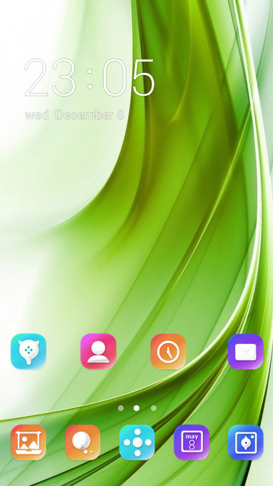 Colorful theme abstraction green white wallpaper
