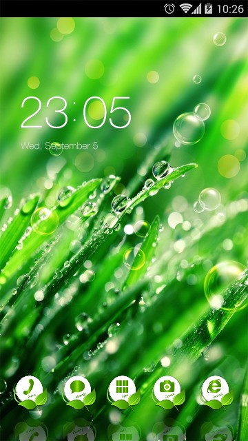 Cool Nature Theme Dew Drops Live Wallpaper