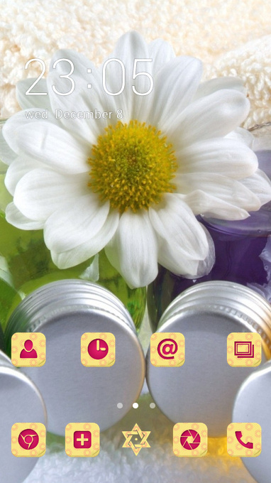 flower theme spa bottle flower petals wallpaper