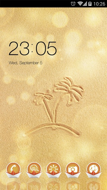 3D Gold Theme for Galaxy J& beach wallpaper HD