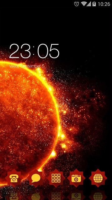 Flame Live Wallpaper Icon planet theme