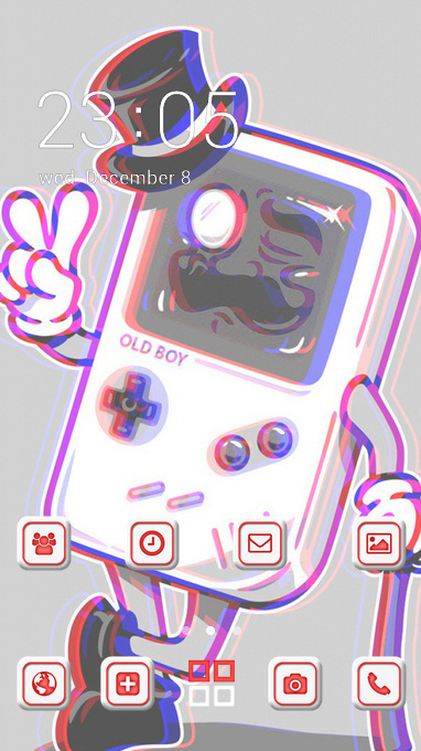 Emotion theme gameboy anaglyph 3d wallpaper