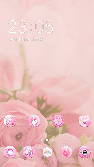 Pink girly theme