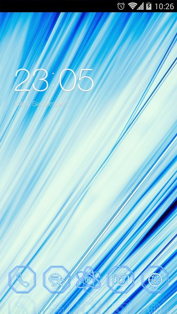 Abstract Blue Theme Cute Stripe Background