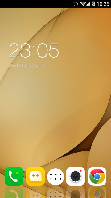 Download Lenovo K8 Plus: Gold Wallpaper theme for your Android phone