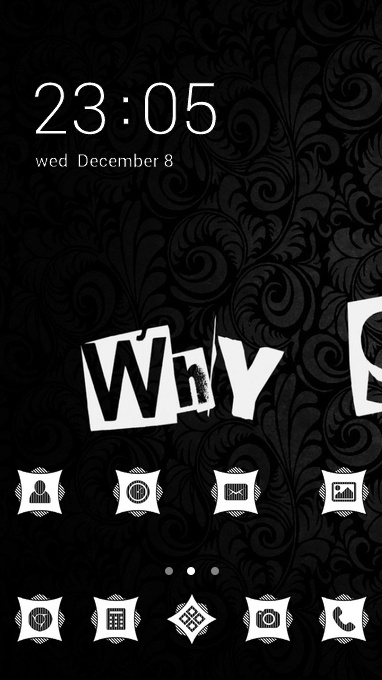 Cool theme why so serious inscription wallpaper