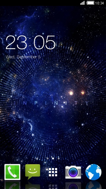Space Indusos Theme for Micromax Canvas HD Plus