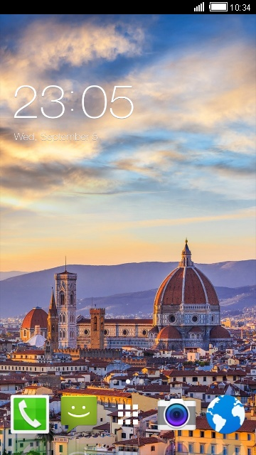 Florence Cityscape Theme for Karbonn A21
