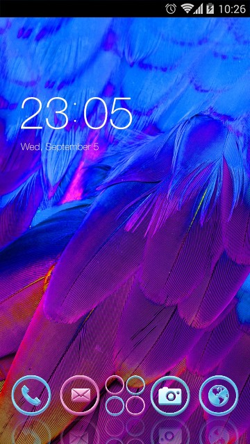 blue and purple neon feathers