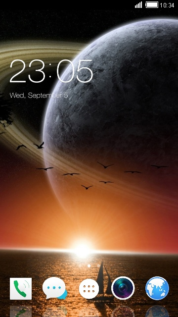 Theme for Intex Cloud 3G Gem Space Wallpaper