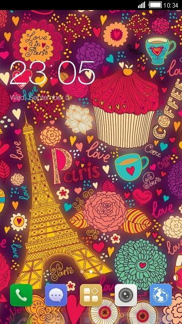 Paris City Theme for Karbonn A27 Retina
