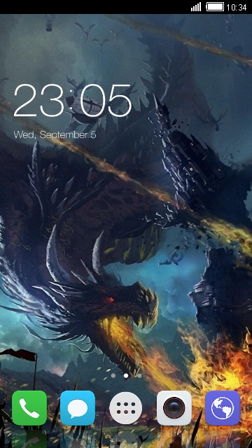Theme for Huawei Honor View 10 Dragon Wallpaper