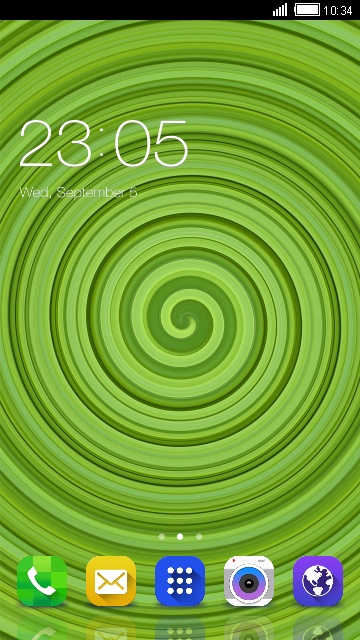 Cool Green Indus Theme for Karbonn K9 Smart