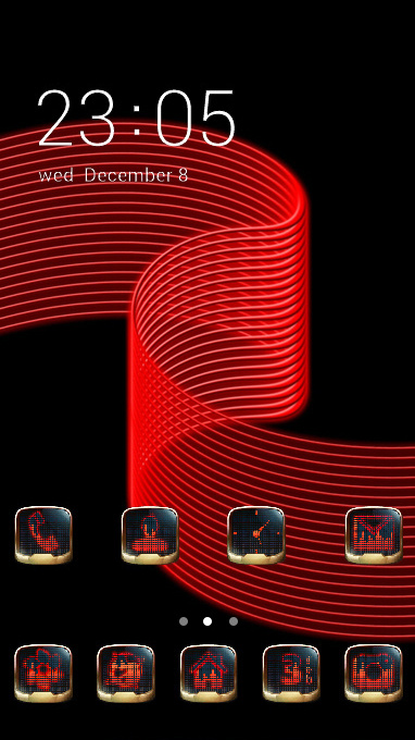 Abstract theme tape strip red black 3d wallpaper