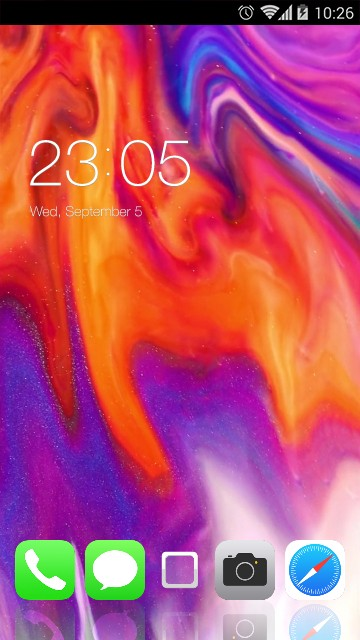 Color Fire Theme for iPhone X