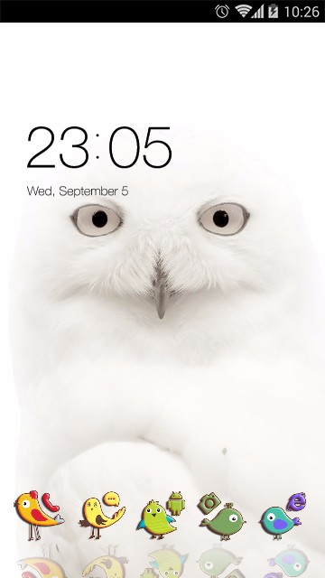White Owl Theme Funny Birds Live Wallpaper