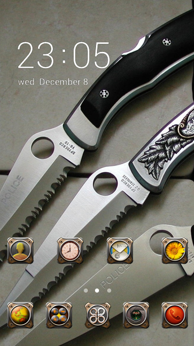 knives leather