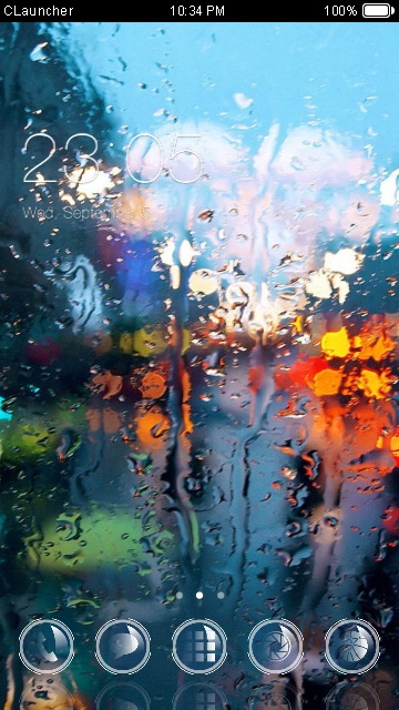 rain in window