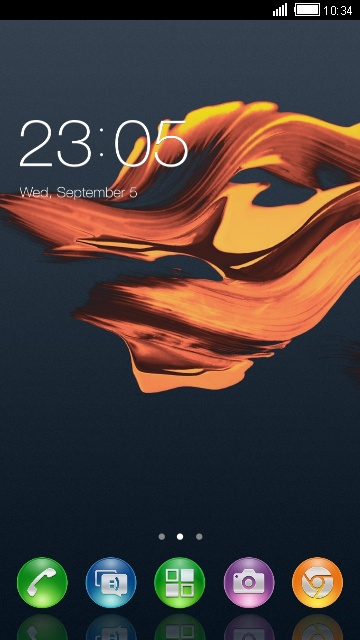 Theme for Xperia Ion: Golden Wallpaper & Icons