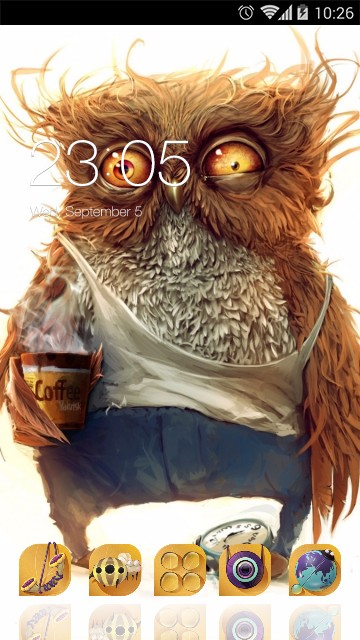 Cartoon Theme Cute Owl Wallpaper HD