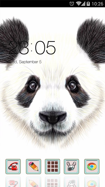Drawing Animal Theme Panda Wallpaper