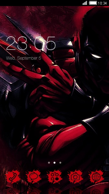 download deadpool theme for your android phone clauncher