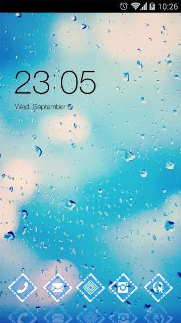 Cool Launcher Theme Hazy rain wallpaper HD