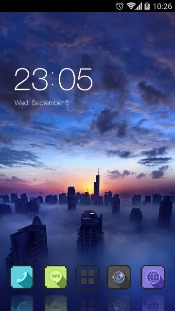 Sunset Sky Live Wallpaper: Fantasy City Theme