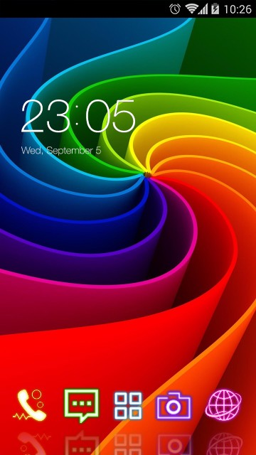 Color Neon Abstract Theme
