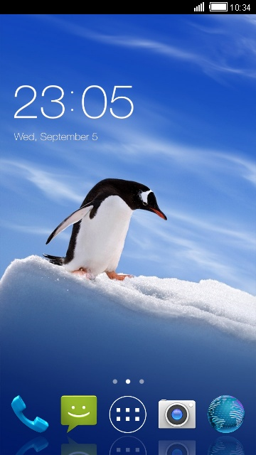 Penguin Theme for Micromax Canvas A82