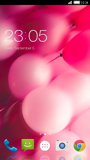 Pink Balloon Theme for Intex Aqua Dream II