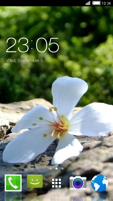 Flower Theme for Alcatel One Touch Pop C5